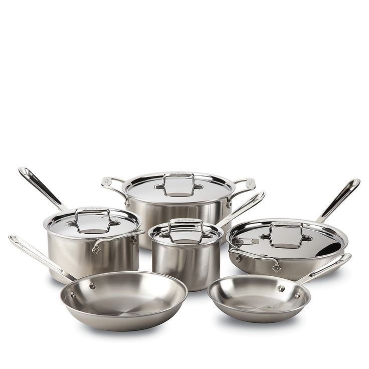 All-Clad D5 Stainless 10-Piece Cookware Set | Bloomingdale's.  Finally made that purchase!