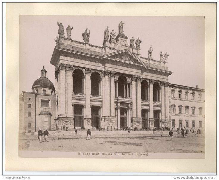 Italie, Roma, Basilica di S. Giovanni  Vintage albumen print.   Tirage albuminé   20x25   Circa 1880