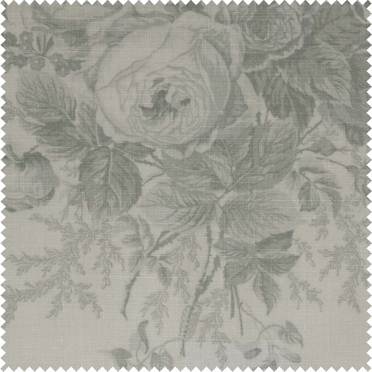 Kate Forman Blue Roses Cotton. Fabric for roman blinds