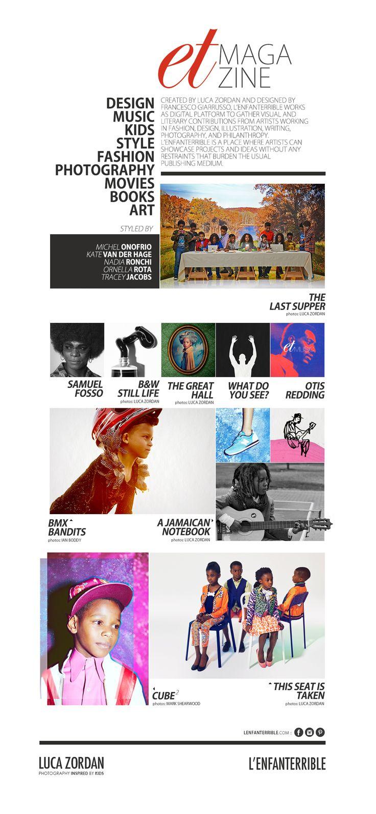 #L'Enfanterrible magazine #lucazordan #magazine #fashion #digitalmagazine #design #graphicdesign #style #kidsfashion #childrenfashion