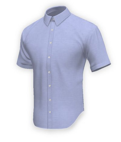 Short sleeved shirt in 100% cotton: http://www.tailor4less.com/en-us/collections/custom-dress-shirts/blue-shirt-collection/bluerock-short-sleeved-shirt-in-100-cotton
