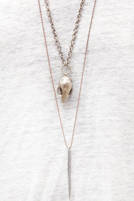 ♥Silver Necklaces, Skull Necklaces, Jewelry Inspiration, Street Style, Brooklyn Fleas, Fleas Marketlong, Fleas Marketing, Accessories, Long Necklaces