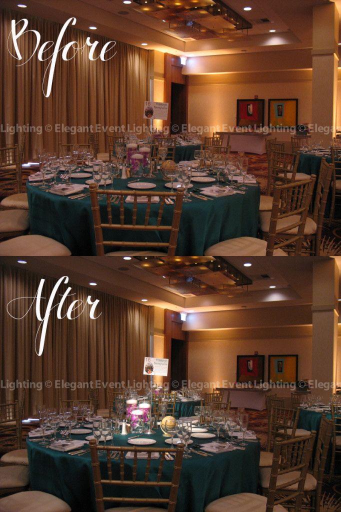 To make Gina and Junu0027s travel-themed centerpieces u0027popu0027 our team highlighted them with pinspot lighting. | Elegant Event Lighting | Pinterest | Chicago ... & To make Gina and Junu0027s travel-themed centerpieces u0027popu0027 our team ... azcodes.com