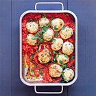 Kalkoengehaktballetjes (ik maak pindasaus ipv tomaten-paprikasaus)