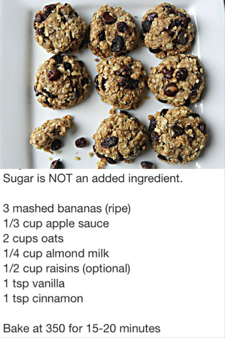 Sugar free cookies - as soon as my bananas are ripened, they will be destined for this!