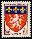 Armoiries de Lyon Armoiries des villes de France (Troisième série) - Timbre de 1958