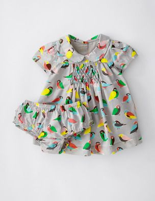 I've spotted this @BodenClothing Pretty Printed Tea Dress Light Grey Birdy