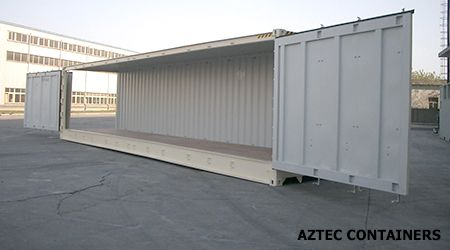 aztec containers 40 foot open sided container contain yourself pinterest on the side. Black Bedroom Furniture Sets. Home Design Ideas