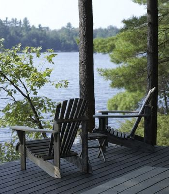Kawartha Lakes, Ontario - I could sit in one of these chairs and just look at the lake all day long.