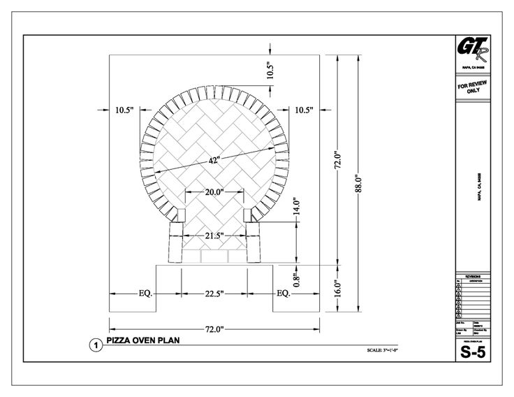 "pizza ovens outdoor plans | ... oven - the 20"" opening seems to be set outside of the 42"" oven"