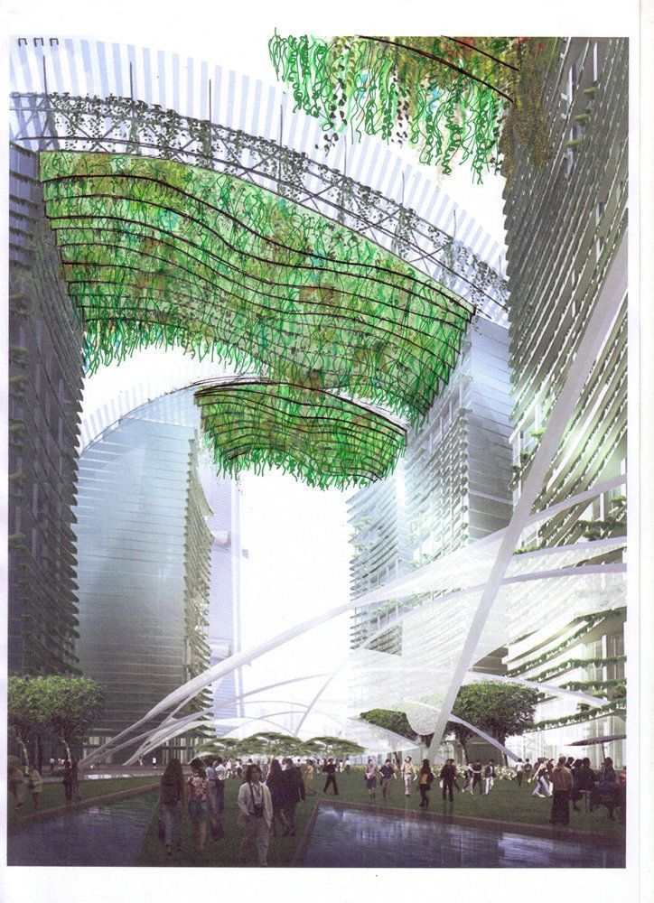 Hanging Canopies, Dubai   Vertical Garden Patrick Blanc
