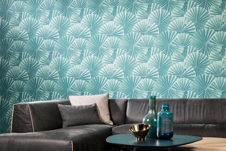 Colourful Wallpaper. Origami. Papercraft. Hookedonwalls. Wirz Tapeten AG