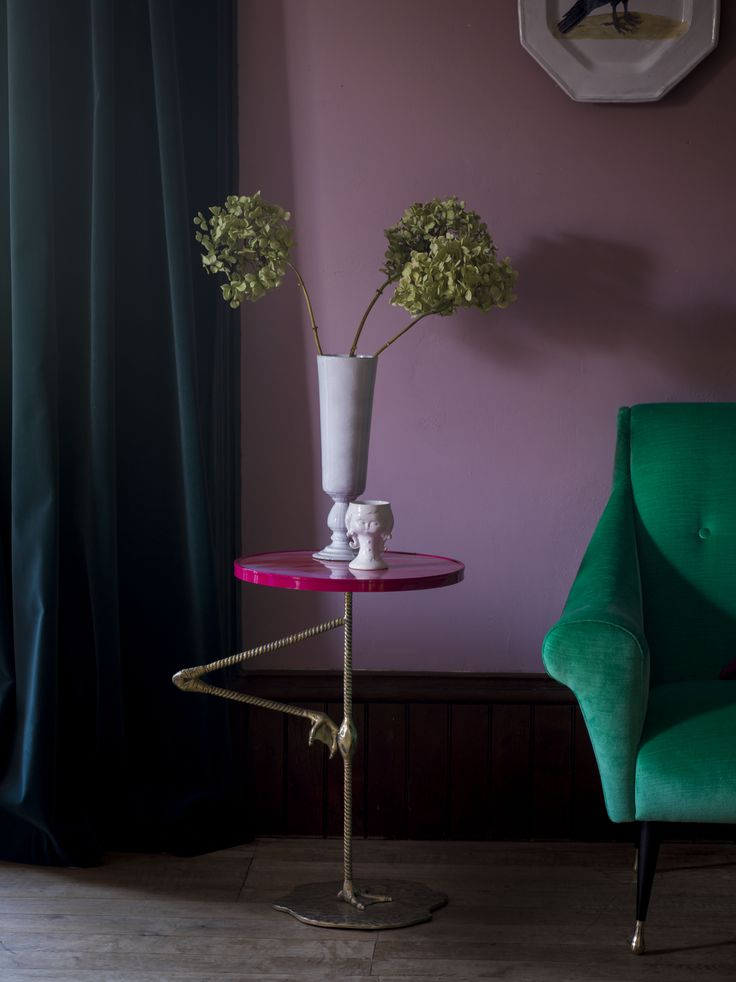 The Flamingo Wine Table from the Matthew Williamson range of bespoke furniture for Duresta.
