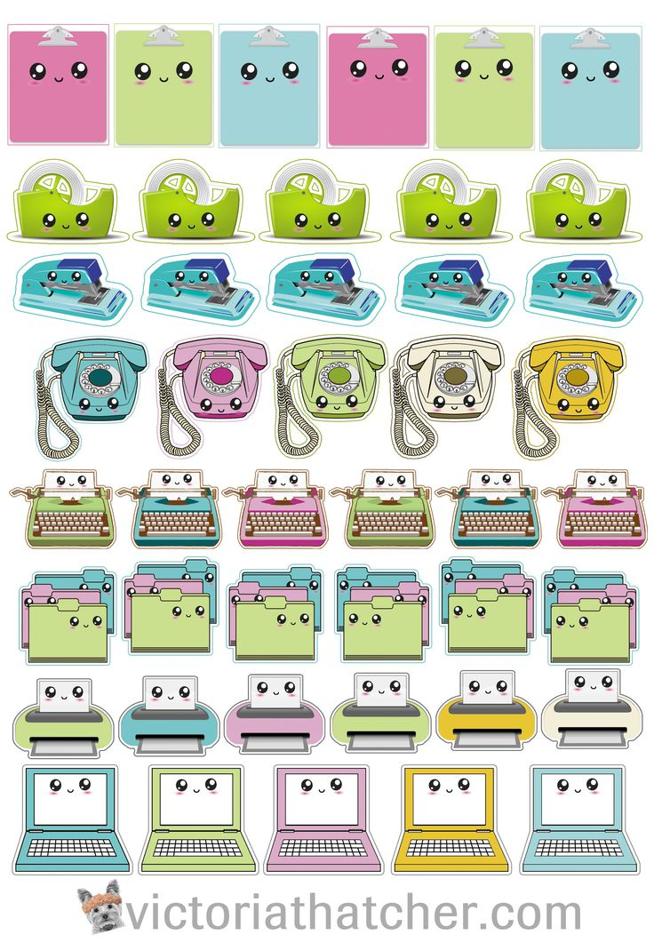Free Printable Cricut Ready Planner Stickers from Victoria Thatcher