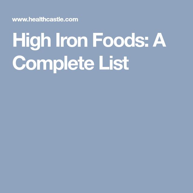 High Iron Foods: A Complete List