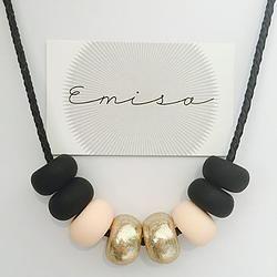 Leather Necklace // Sandra - Emisa