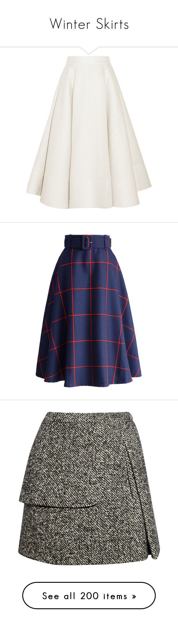 """Winter Skirts"" by pocahaunted666 ❤ liked on Polyvore featuring skirts, white, zipper skirt, knee length a line skirt, midi skirt, embroidered skirt, white knee length skirt, bottoms, jupes and blue"