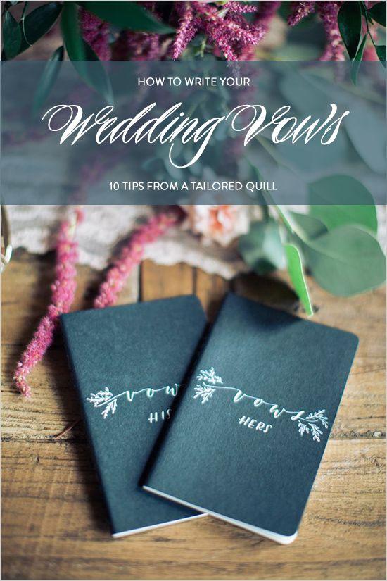 writing your wedding vow tips and tricks @weddingchicks