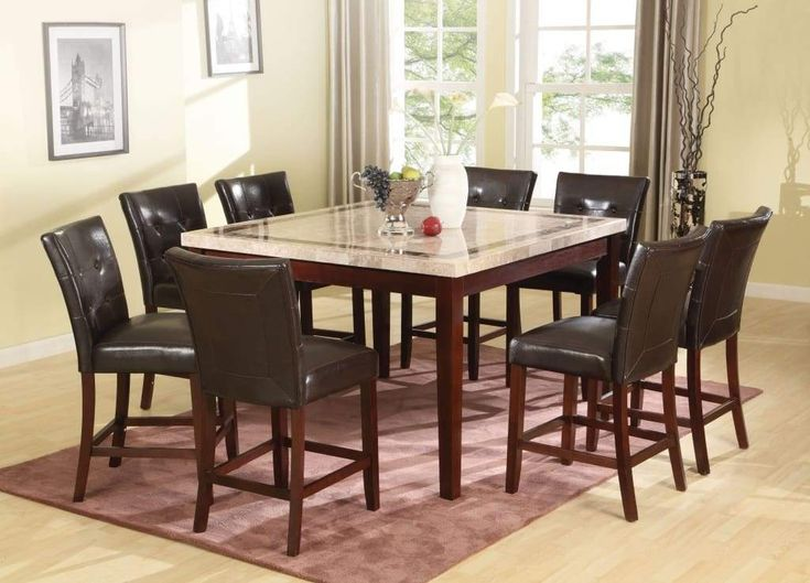 Graceful Square Dining Table White Marble Top 038 Brown Dining Graceful Marble M Counter Height Dining Table Set Counter Height Dining Table Dining Table
