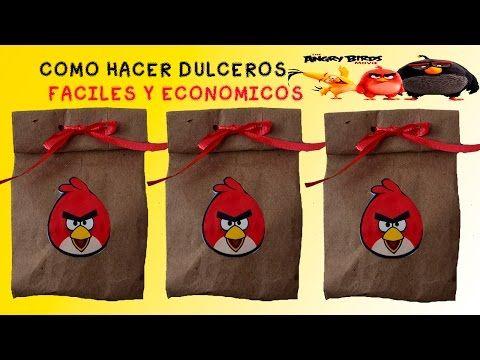 COMO HACER DULCEROS ANGRY BIRDS FACILES Y ECONOMICOS - YouTube
