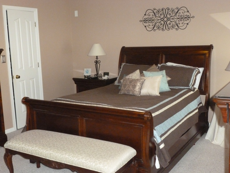 master bedroom sleigh bed decor ideas pinterest