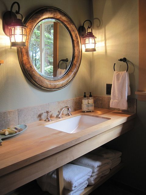 152 best Rustic bathrooms images on Pinterest Rustic bathrooms - rustic bathroom lighting ideas