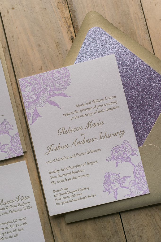 ELIZABETH Suite Glitter Package lavender and gold