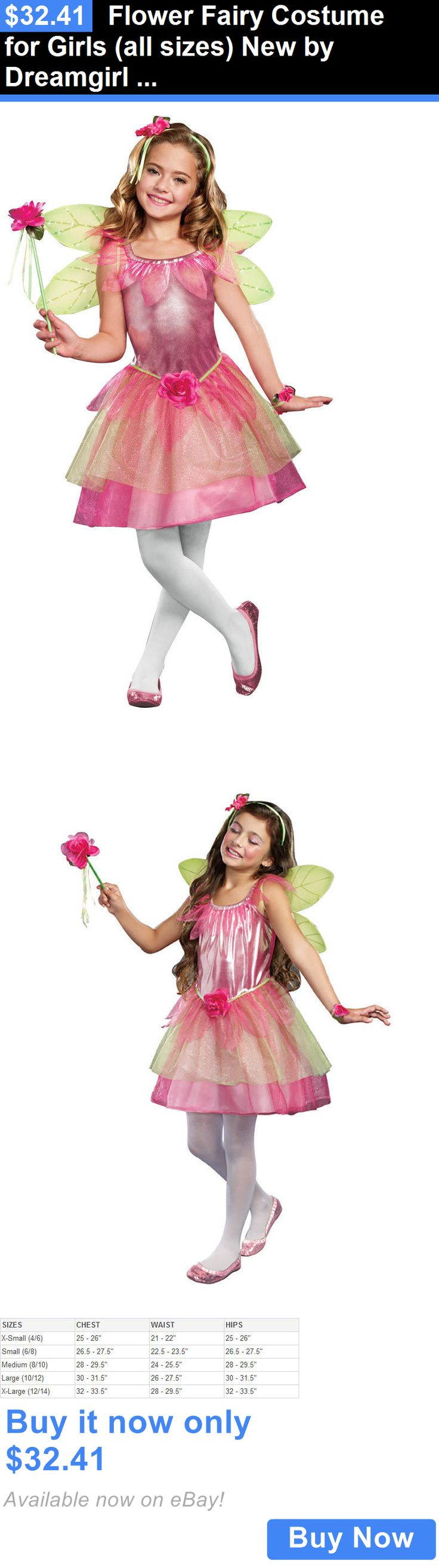 Kids Costumes: Flower Fairy Costume For Girls (All Sizes) New By Dreamgirl 9564 BUY IT NOW ONLY: $32.41