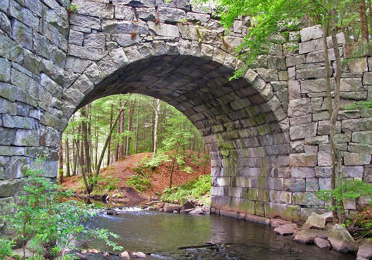 bridges and archways | Stone Arch Bridge Photograph - Stone Arch Bridge Fine Art Print