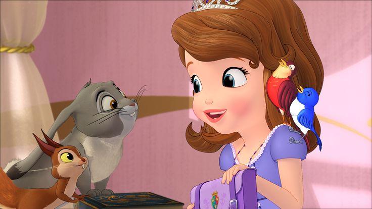 Princesse Sofia : Il était une fois une Princesse :  Sofia porte l'amulette d'Avalor autour du cou qui a le pouvoir de donner la parole aux animaux du royaume…  Retrouvez ce programme sur Disney Junior  © 2012 Disney