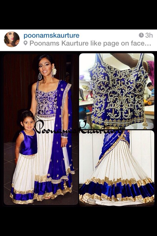 Love this matching mother / daughter lengha outfit. So adorable!