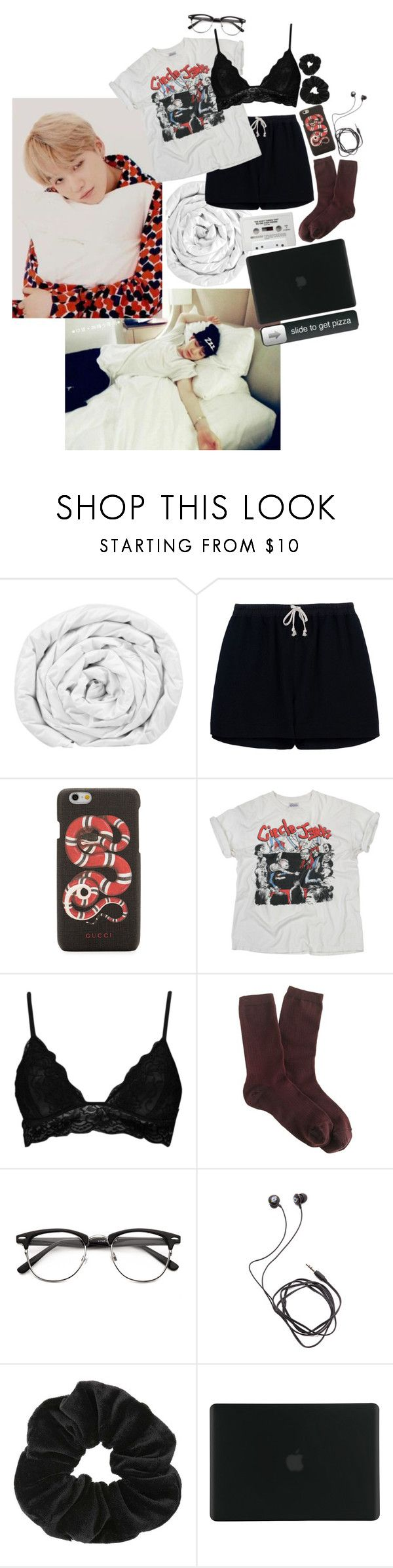 """""""Sleepover - Min Yoongi"""" by blood-sweat-and-tears ❤ liked on Polyvore featuring Brinkhaus, Rick Owens, Gucci, Cast of Vices, Boohoo, J.Crew, Diane Von Furstenberg, Miss Selfridge and Tucano"""