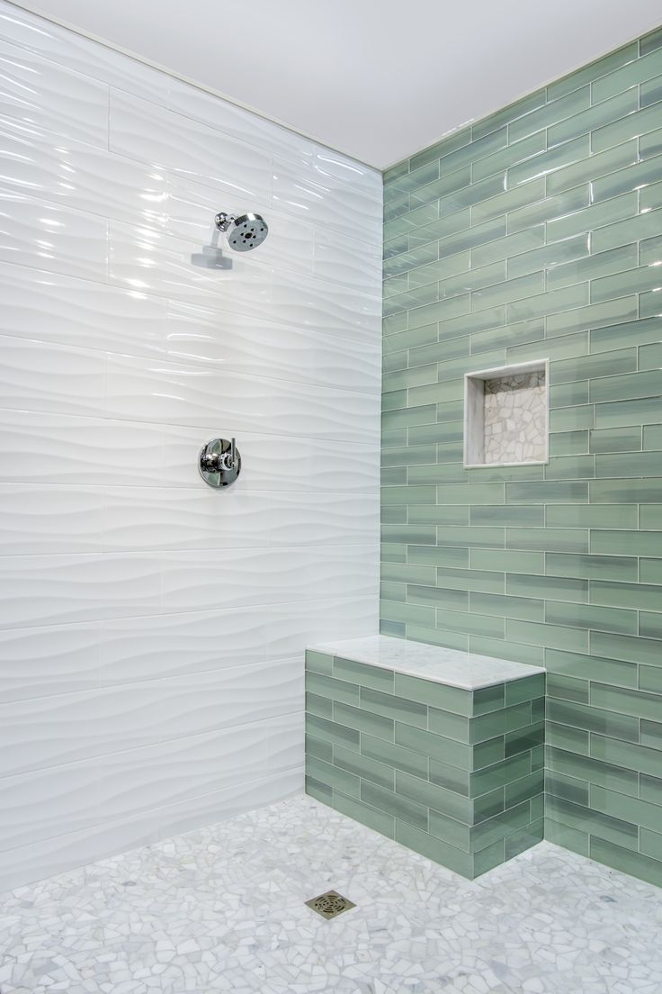 Bring Tranquility And Peace Into Your Bathroom Design By Using Highly Dimensional Wave Patterns Featured In