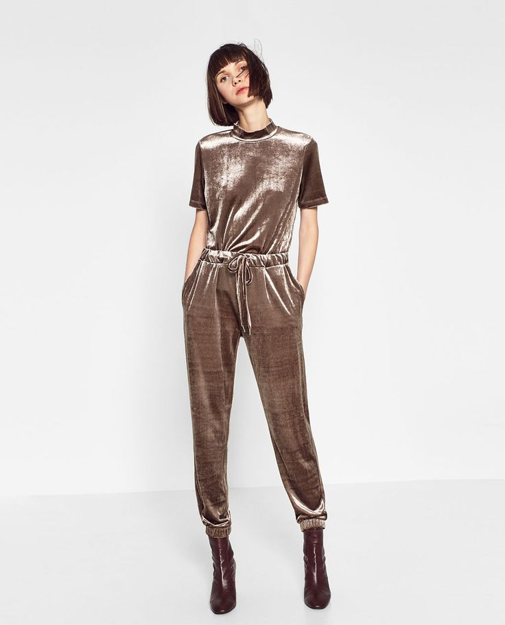 VELVET JOGGING TROUSERS-Collection-VELVET FEEL-TRF | ZARA United States