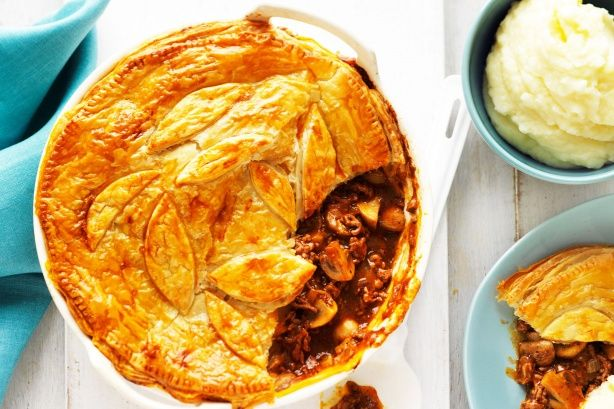 This traditional Aussie beef, pepper and mushroom pie is always a family winner.