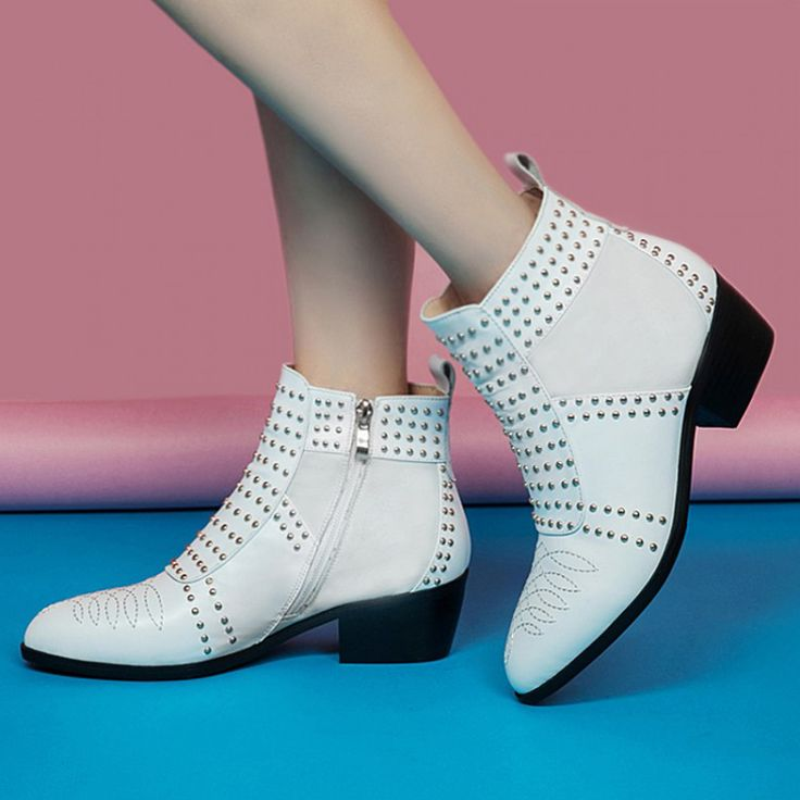 Fashion Genuine Leather Boots Women Chelsea #boots #chelsea #women