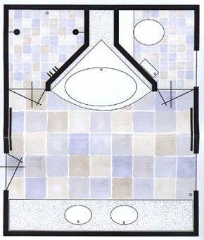 25 beste idee n over badkamerindeling op pinterest - Kaart badkamer toilet ...