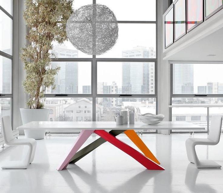Rectangular table BIG TABLE by @Bonaldo | #design Alain Gilles #colour #interiors