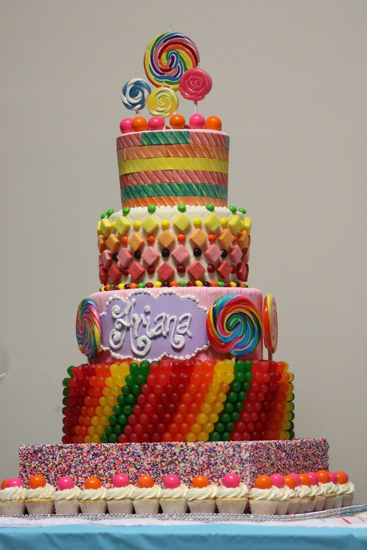 Skittles candy cake ideas
