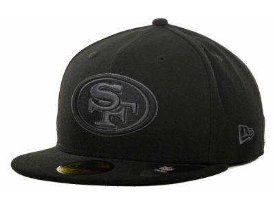 San Francisco 49ers New Era NFL Black Gray Basic 59FIFTY Cap