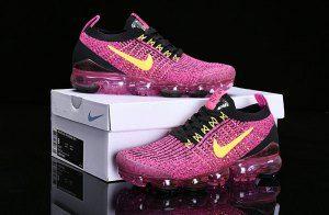 ec7c75eec454 Nike Air Vapormax Flyknit 2019 Black Vivid Pink Yellow AJ6900-105 Women s  Men s Running Shoes