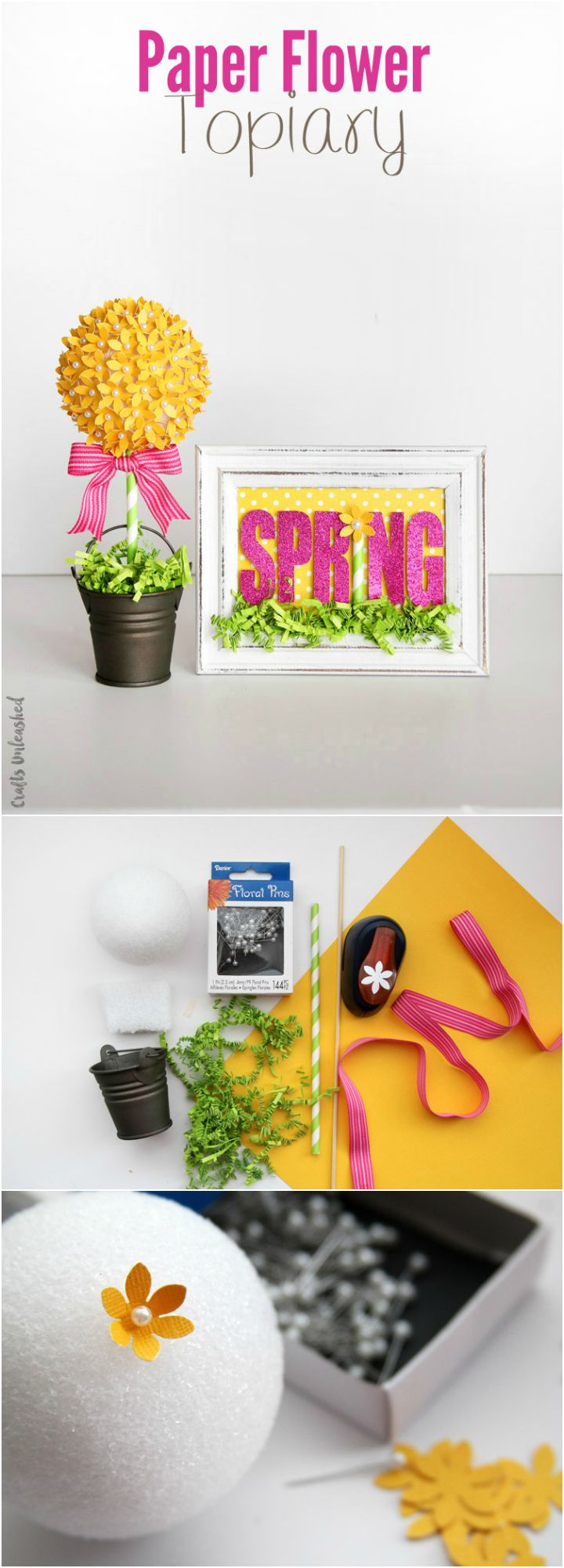 Easy spring crafts for seniors - Paper Flower Topiary Craft Step By Step Consumer Crafts Diy Springspring Craftssenior