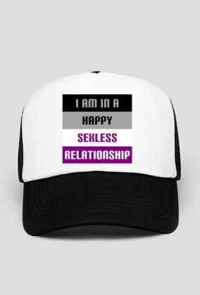 I'm in a happy sexless relationship. #asexual #asexuality #ace #lgbtqia #hats #caps You can buy this trucker hat here: https://blibli.cupsell.com/product/2198783-product-2198783.html And here you can find other merchandise with the same design: https://blibli.cupsell.com/k/i-m-in-a-happy-sexless-relationship
