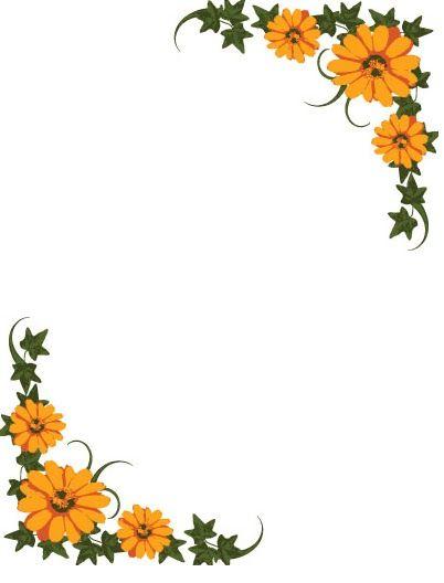 Margenes de flores para hojas - Imagui