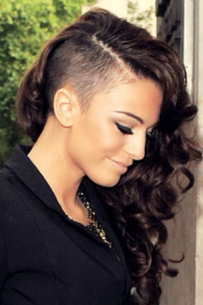 Shaved Side Long Hair // Shaved Styles For Woman