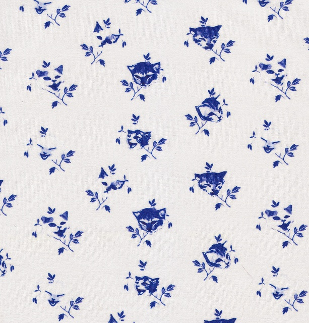 The company that prints my fabrics now carries a Silk Crepe de Chine, and I really want to make a dress or long top with it.  It drapes really well and it's so light. 'Kitty Buds fabric {Delft Blue}', ©Melinda Josie