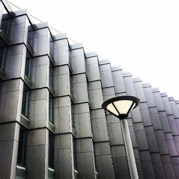 Found on Starpin. #architecture #modernism #windows #detail #poznan #Poznań #neomodernism #pattern #dark #malta