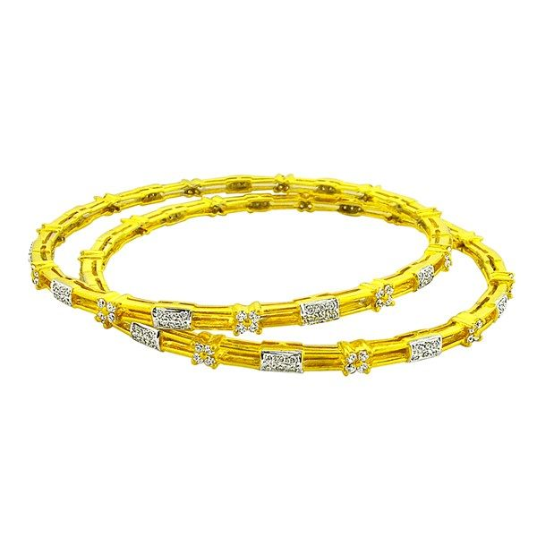 The Indian fashion bangle bracelet is elegant and can be worn as it is or with plain bangles.