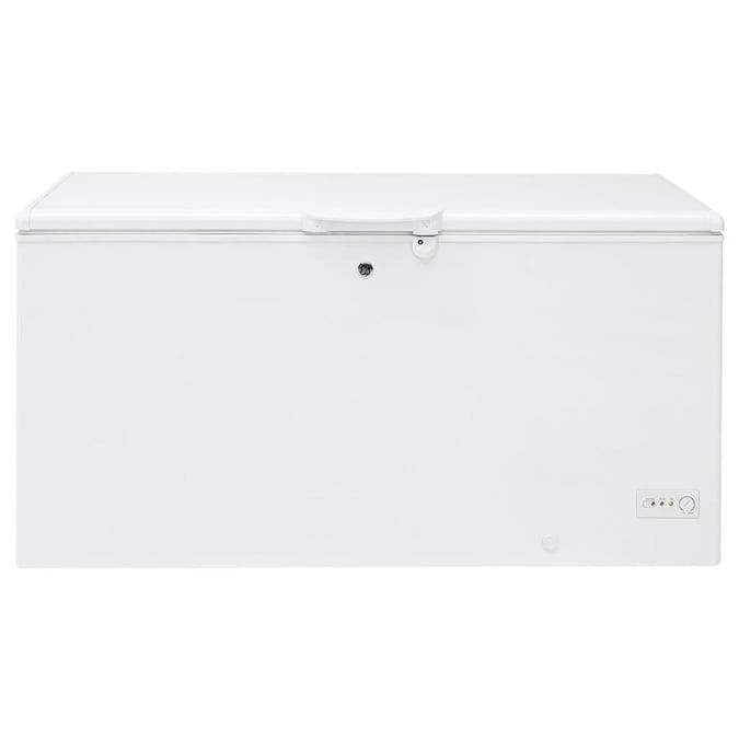 Ge Garage Ready 15 7 Cu Ft Manual Defrost Chest Freezer With Temperature Alarm White Energy Star Lowes Com In 2020 Chest Freezer Temperature Alarm Storage Spaces