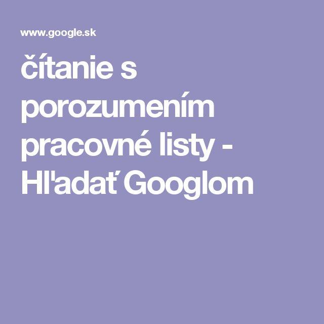 čítanie s porozumením pracovné listy - Hľadať Googlom